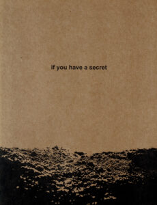 'if you have a secret', de Irina Popova